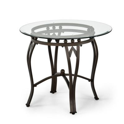 Madrid Glass and Metal End Table