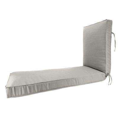 23 x 75 Outdoor Chaise Lounge Cushion in Sunbrella Spectrum Dove