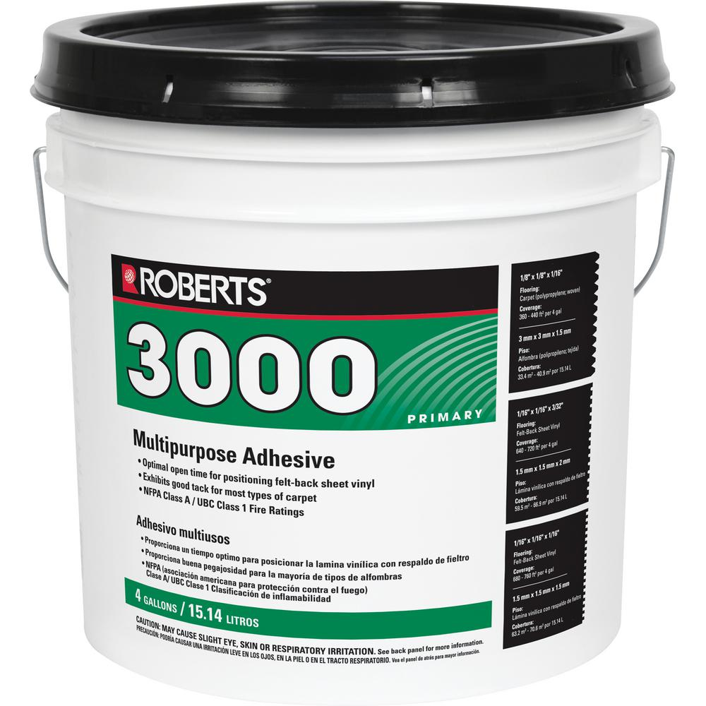 Roberts 4 Gal. Multi-Purpose Grade 1 Carpet and Sheet Vinyl Adhesive