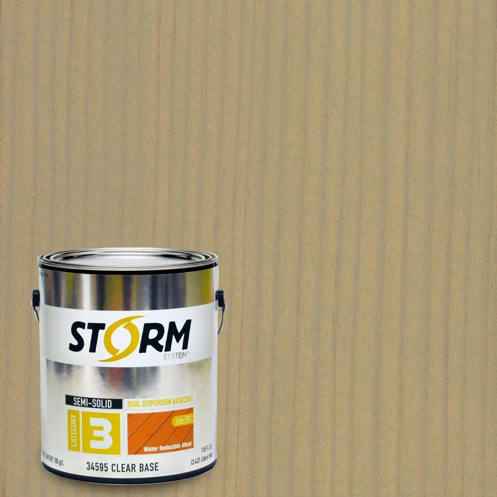 Storm System 1 gal. Seasalt Gray Exterior Semi-Solid Dual Dispersion Wood Finish