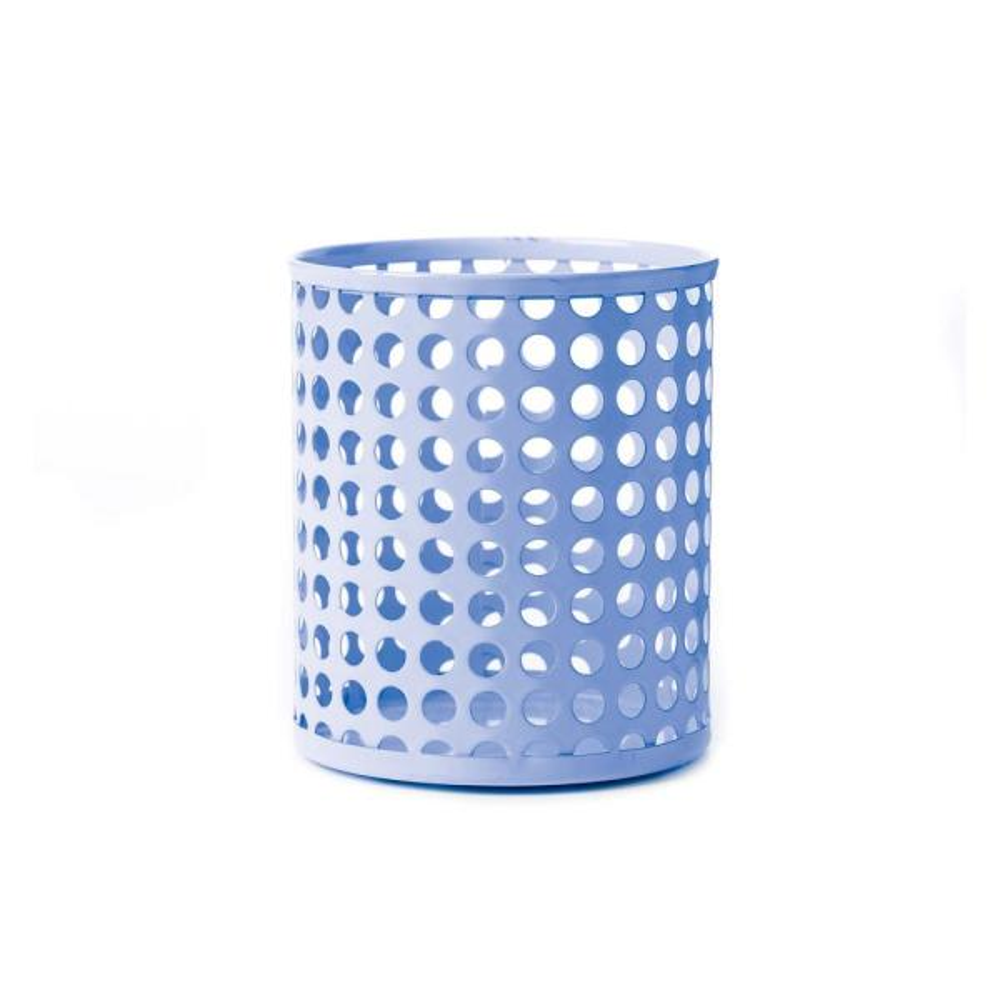 Design Ideas Edison Metal Pencil Cup, Periwinkle 3434902
