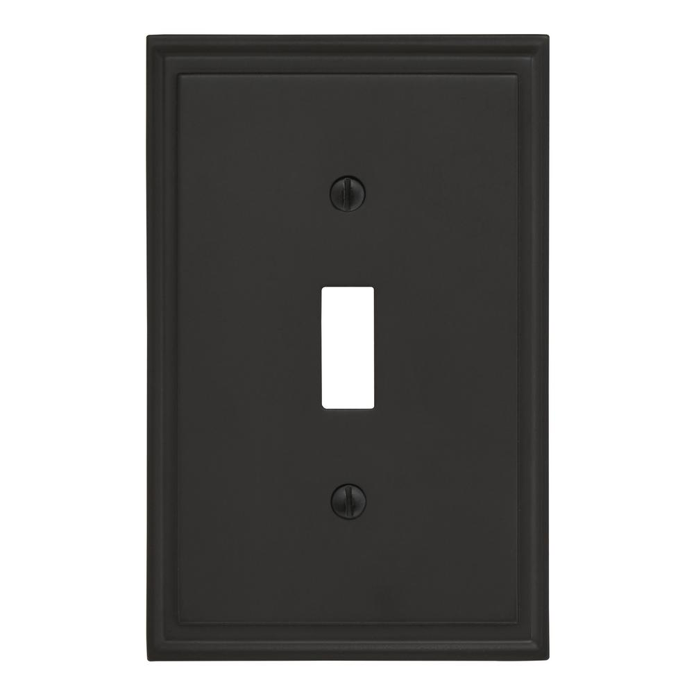Mulholland 1 Toggle Black Bronze Wall Plate