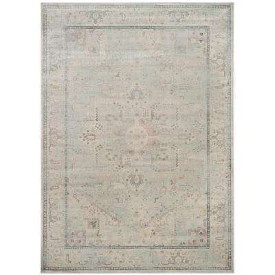 Vintage Light Blue 8 ft. x 11 ft. Area Rug