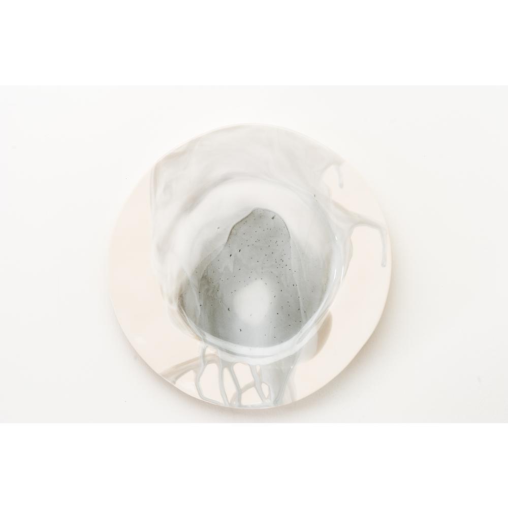 Splash Gray & White Dinner Plate, Set of 4