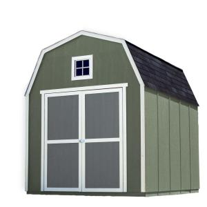 Click here to buy Handy Home Products Installed Montana 8 ft. x 10 ft. Wood Storage Shed with Black Onyx Shingles by Handy Home Products.