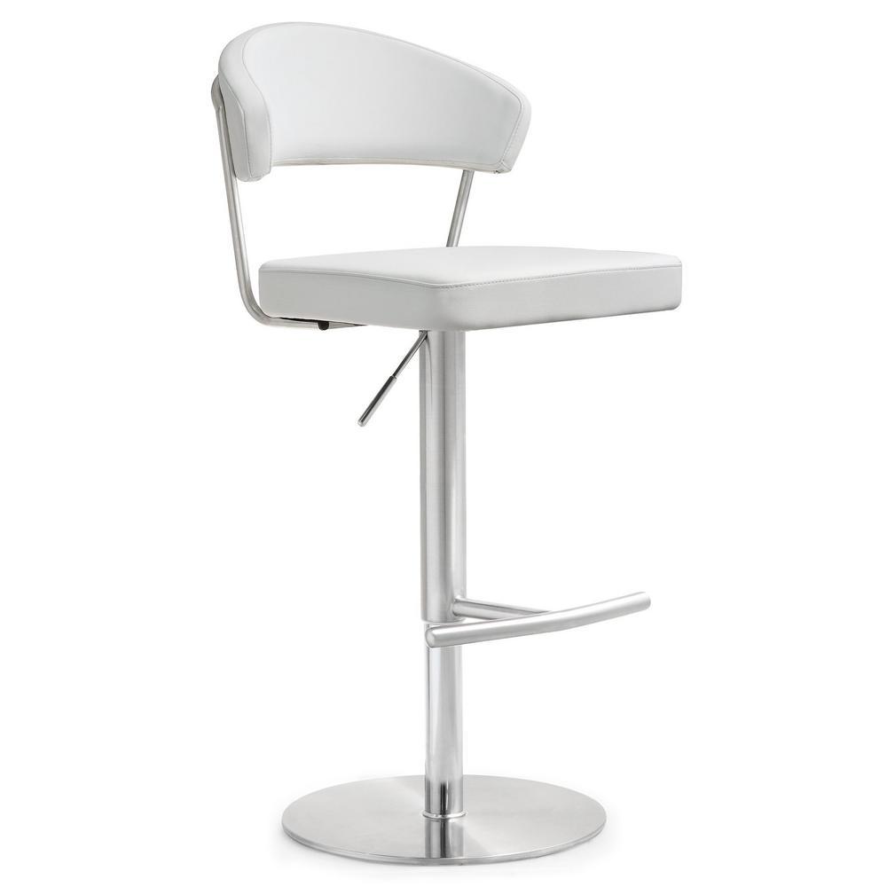 Cosmo White Steel Barstool