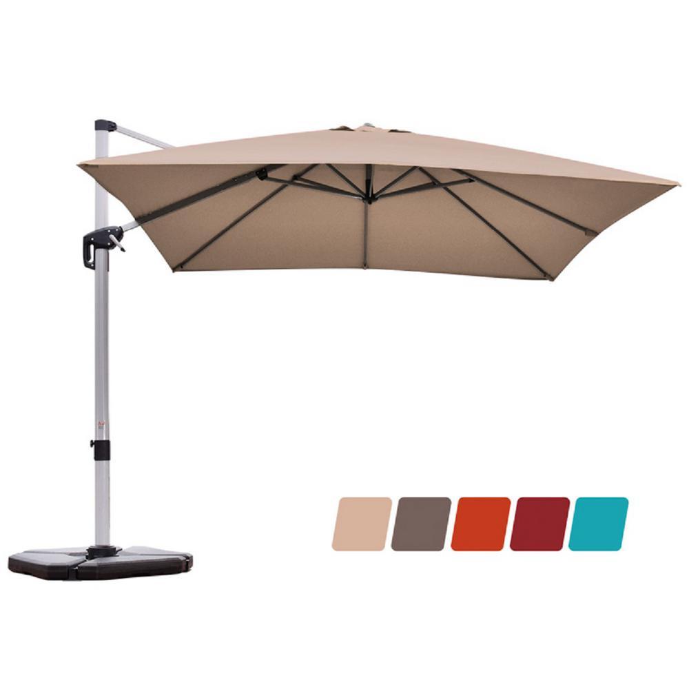 Costway 10 Ft Aluminum Cantilever, 10 Ft Cantilever Patio Umbrella