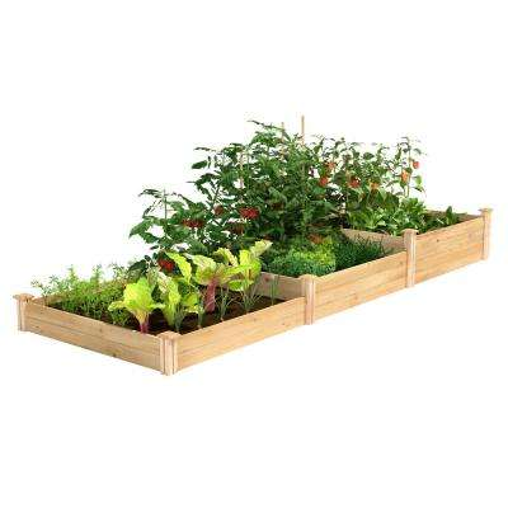4 ft. x 12 ft. Stair-Step Original Cedar Raised Garden Bed