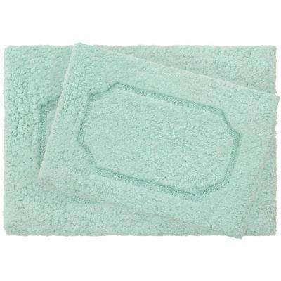 Blossom Duck Egg Premium Extra Plush Race Track 2-Piece Bath Rug Set