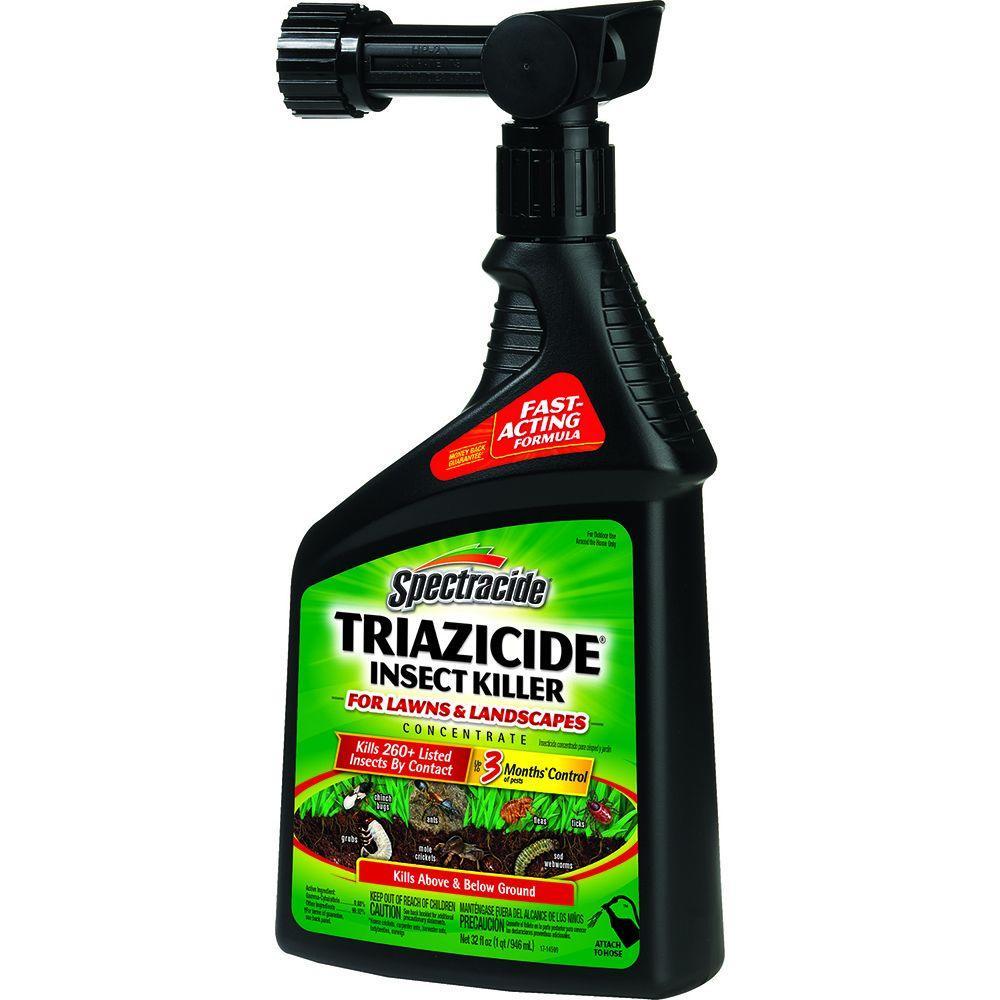 Spectracide Triazicide 32 fl. oz. Ready-to-Spray Lawn Ins...