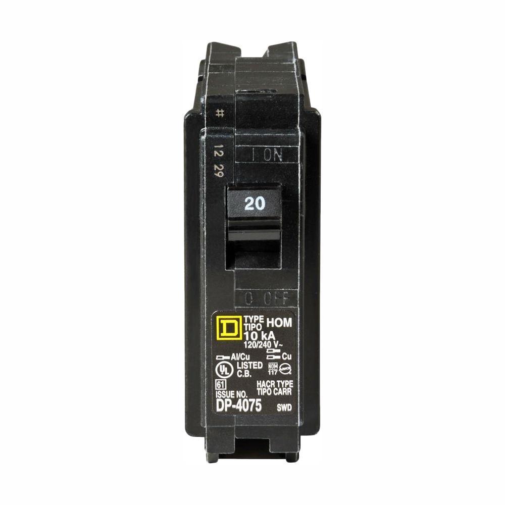 Homeline 20 Amp Single-Pole Circuit Breaker (8-Pack)