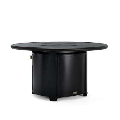 Vesta 50 in. Square Aluminum LP Fire Pit in Black