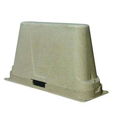 48 in. L x 17 in. W x 27 in. H Large Plastic Two Piece Brown Granite Backflow Cover
