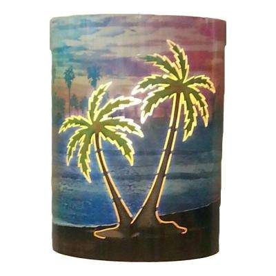 1-Light Infusion Island Palms Sconce