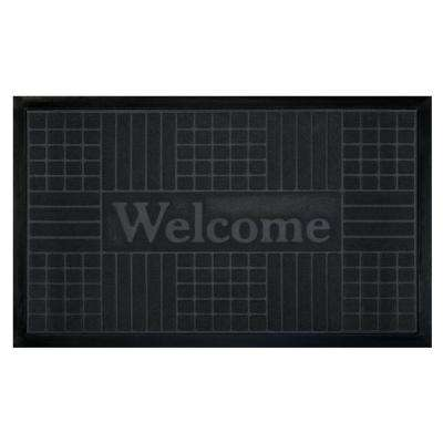 Grey 18 in. x 30 in. Geometric Door Mat
