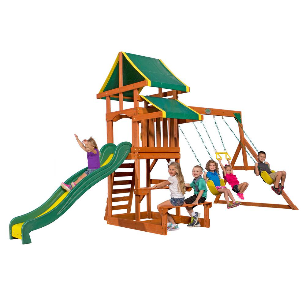 Backyard Discovery Tucson All Cedar Playset 65411com The Home Depot