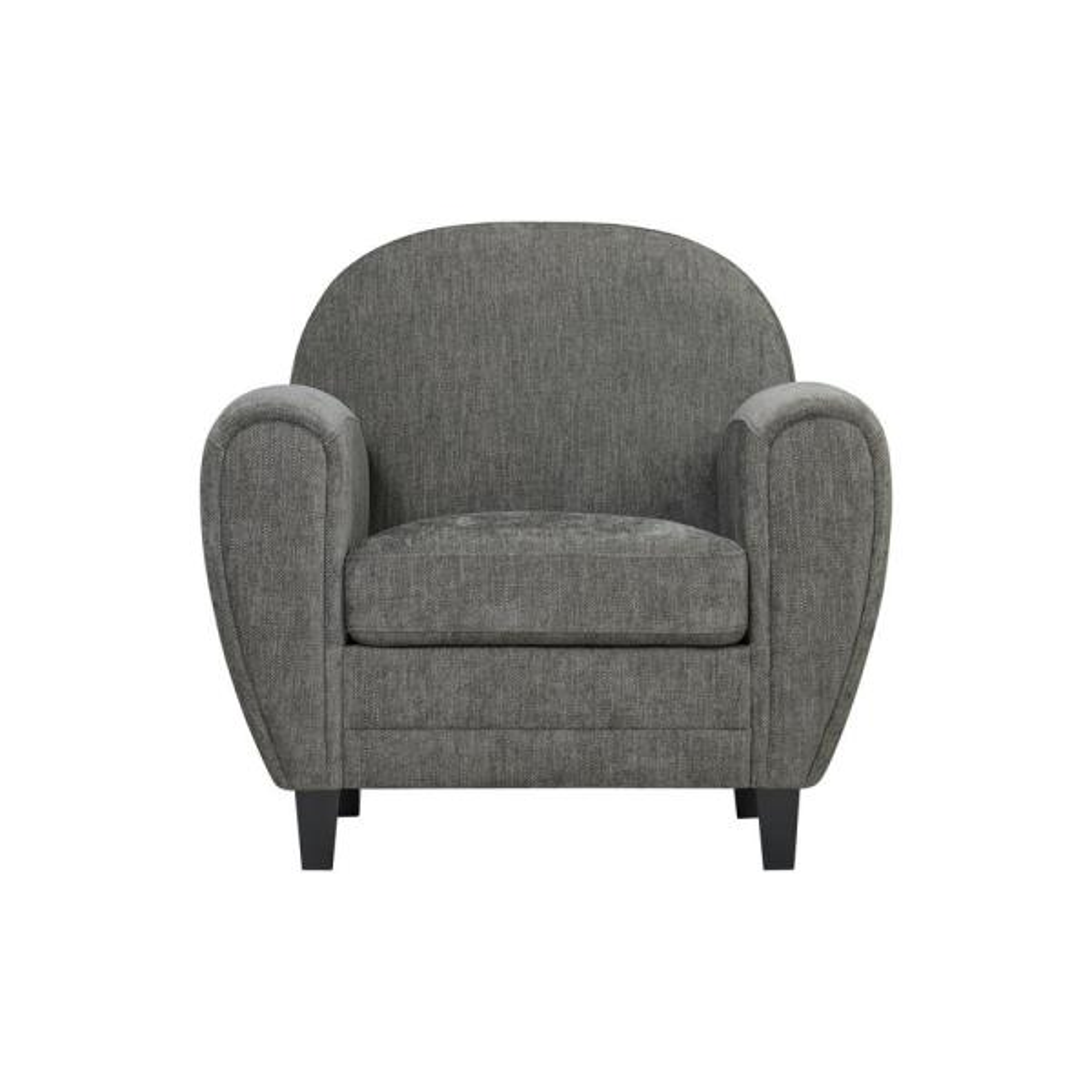 Handy Living Valencia Modern Club Chair in Smoke Gray Herringbone 340C-PHN16-192