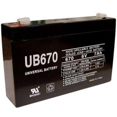 6-Volt 7Ah Maintenance-Free UL Listed Exit Lighting and Emergency Lighting Security Battery