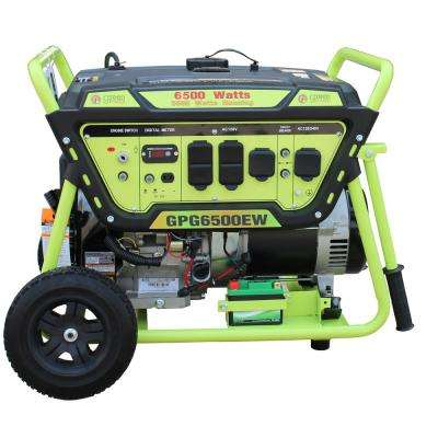 Green Power 6500/5500-Watt Gasoline Powered Electric Start Portable Generator, 420cc 15HP LCT Engine, Lithium Battery