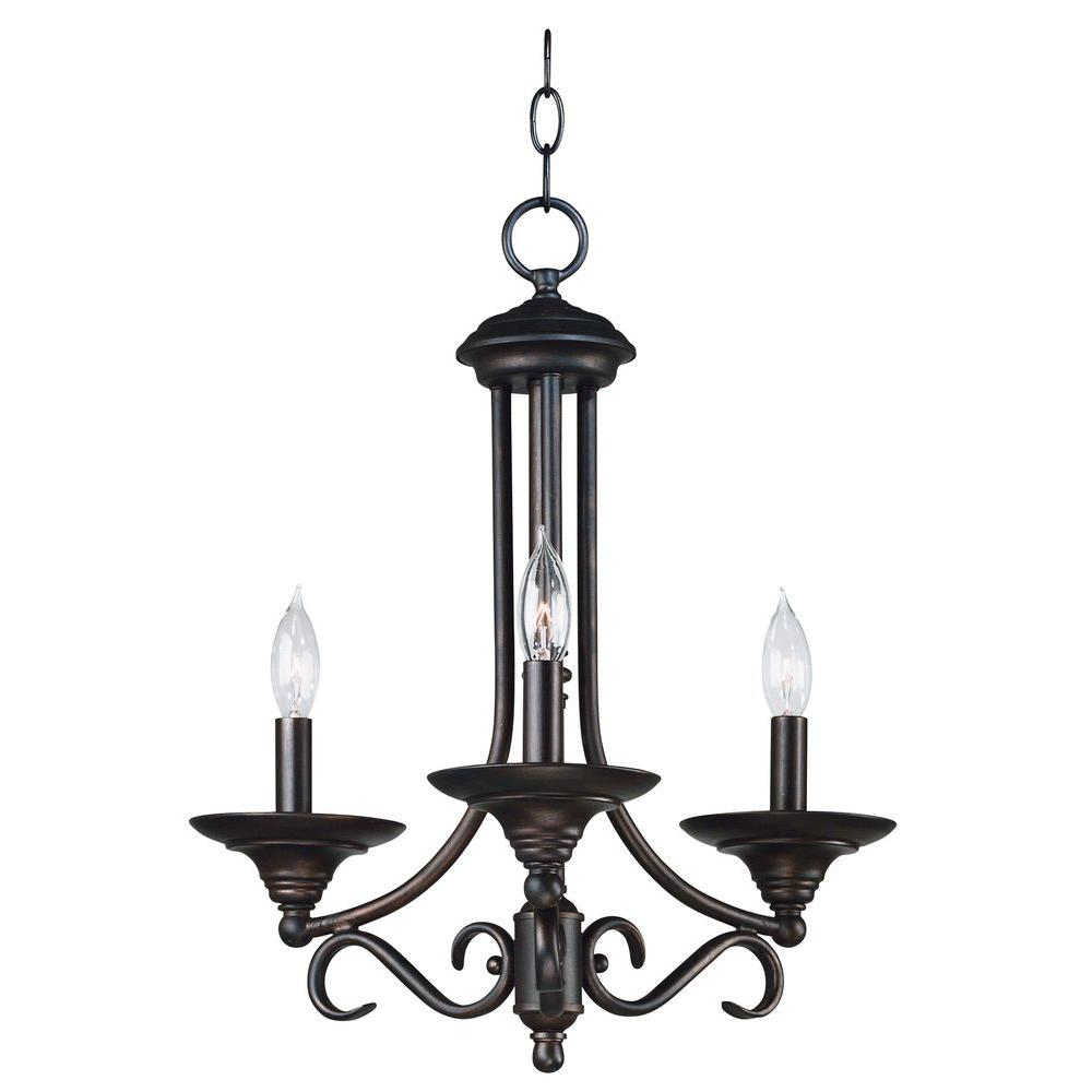Kenroy Home Hamilton 3 Light Chandelier-DISCONTINUED