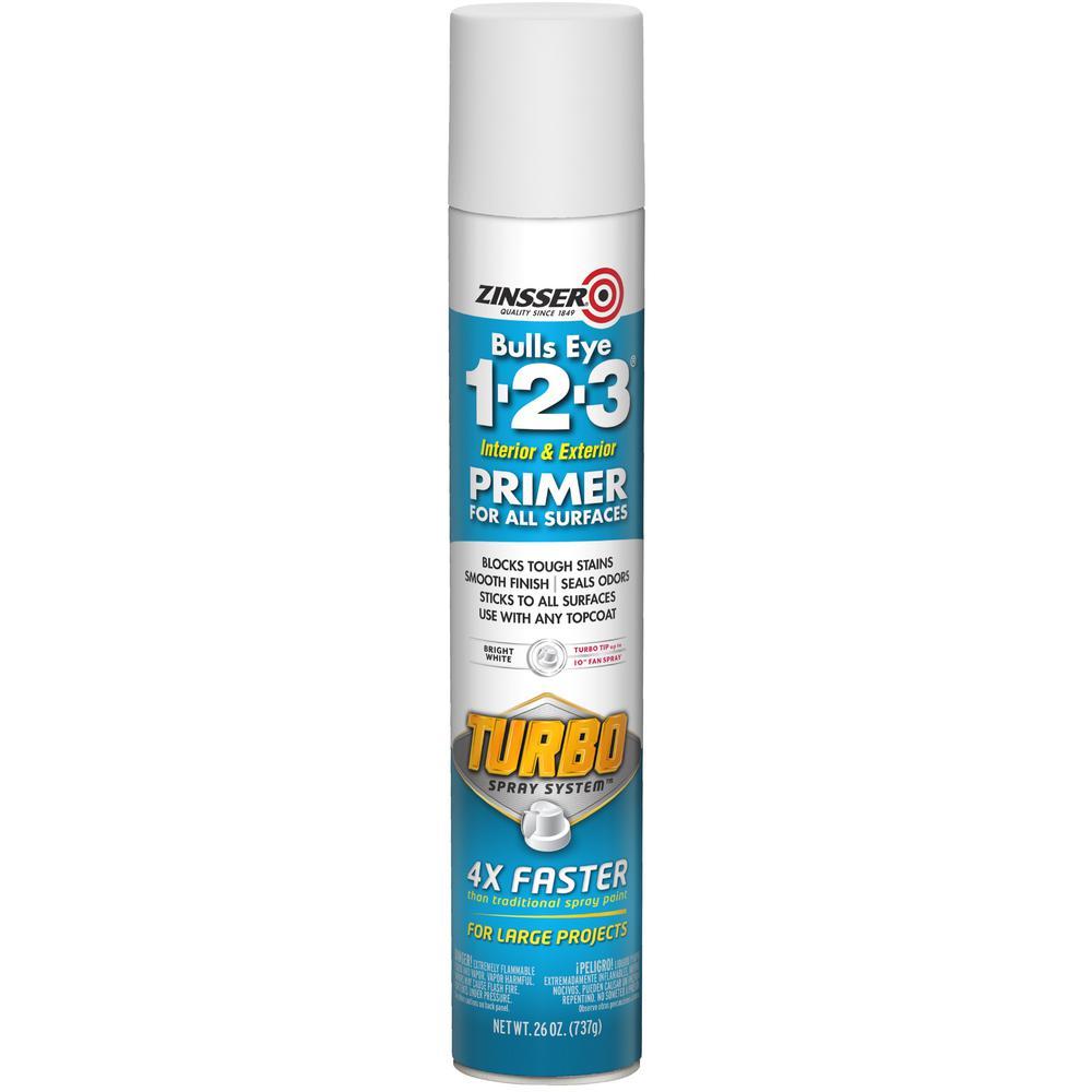 Zinsser Zinsser Bulls Eye 1-2-3 26 oz. Turbo White Interior/Exterior Primer Spray (6-Pack)