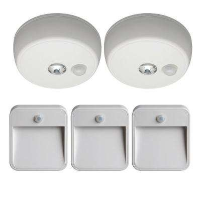 White Bundle/Small Indoor Safety Light (5-Piece)