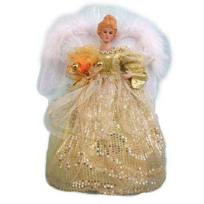 12 in. LED Angel Gold Tree Topper