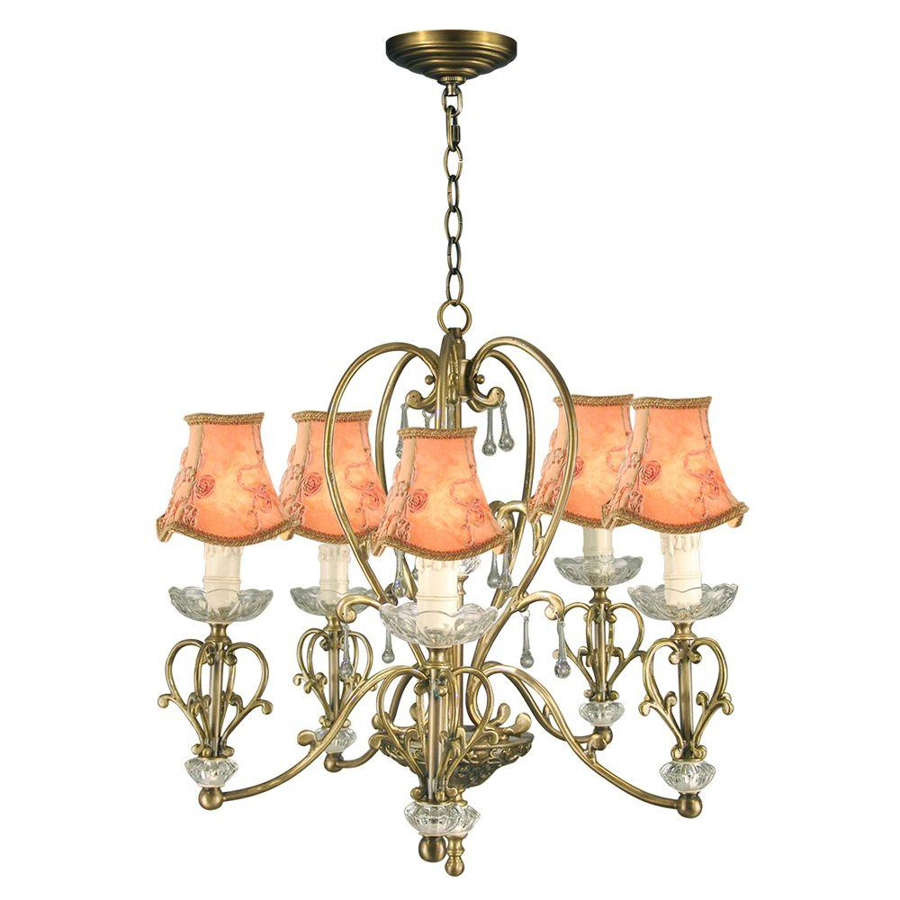 Dale Tiffany 5-Light Ashbee Chandelier-DISCONTINUED
