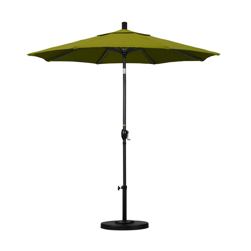 7-1/2 ft. Fiberglass Push Tilt Patio Umbrella in Ginkgo Pacifica