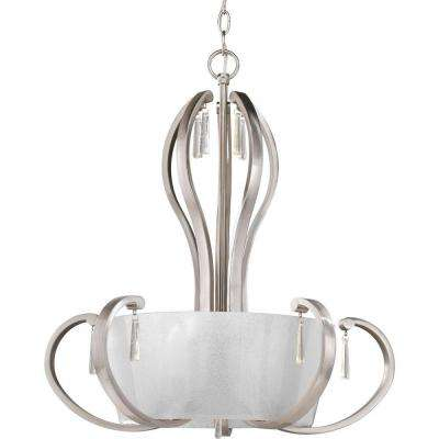 Dazzle Collection 5-Light Brushed Nickel Foyer Pendant