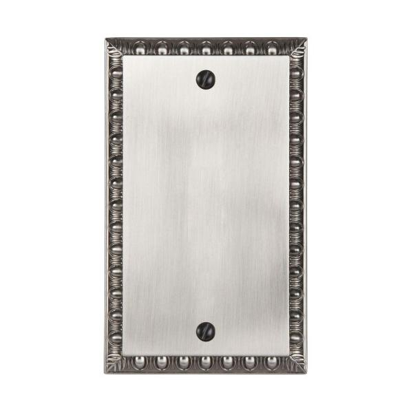 Antiquity 1 Gang Blank Metal Wall Plate - Antique Nickel