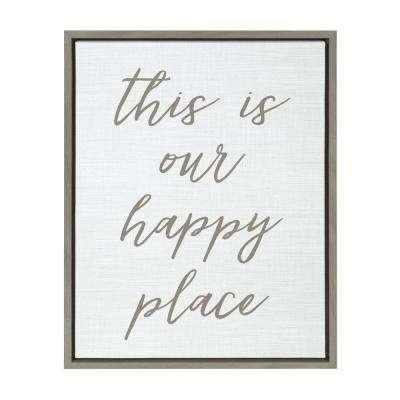 "Sylvie ""Happy Place"" Framed Canvas Wall Art"