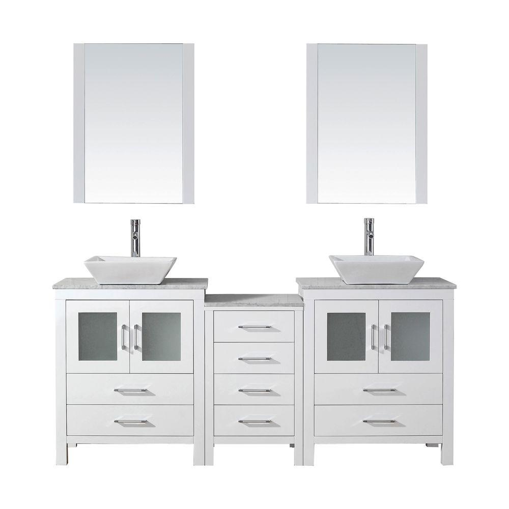 66 bathroom vanity cabinet virtu usa 66 in w x 18 3 in d vanity in white with 10345
