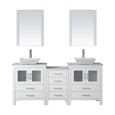 Dior 66 In W X 18 3 D Vanity White With Marble