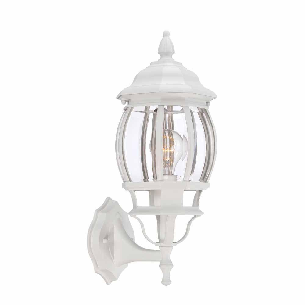 1 Light White Outdoor Wall Lantern
