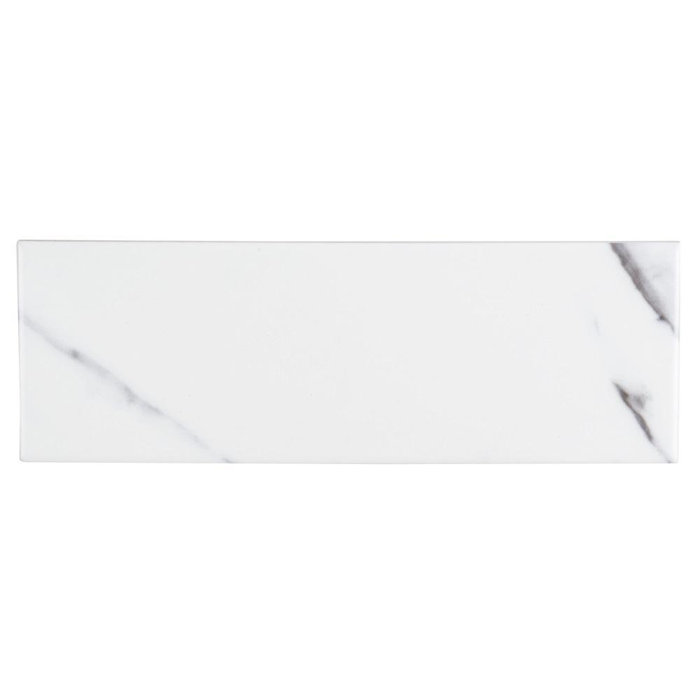 Carrara Inkjet 4 in. x 12 in. Ceramic Field Wall Tile