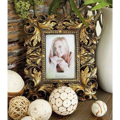 Rustic 1-Opening Bronze Scrollwork Photo Frames (Set of 2)