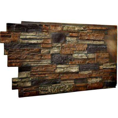 1-1/2 in. x 48 in. x 25 in. Redstone Urethane Dry Stack Stone Wall Panel