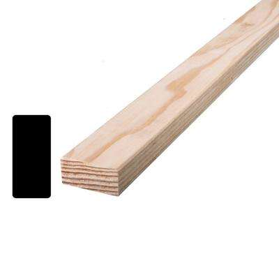 Douglas Fir S4SE2E 1 in. x 2 in. x 96 in. Mixed Grain Board (Actual: 0.6875 in. x 1.5 in. x 96 in.)