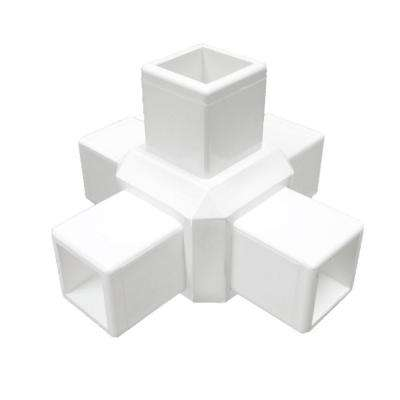 White Modular Vinyl 5-Way Fence Cross (12-Box)
