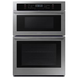 30 in. 1.9/5.1 cu. ft. Wi-Fi Connected Electric Microwave Combination Wall Oven in Stainless Steel