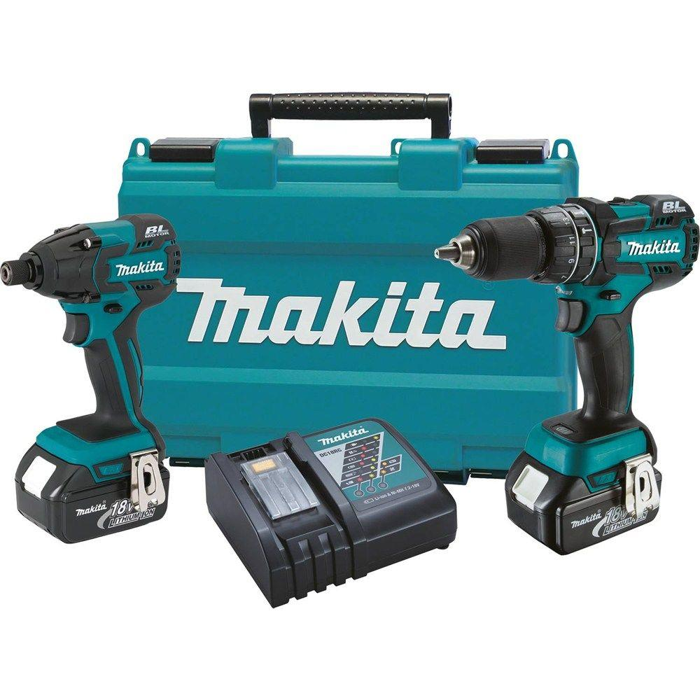 makita 18 volt lxt lithium ion brushless cordless combo kit 2 piece xt248m the home depot. Black Bedroom Furniture Sets. Home Design Ideas