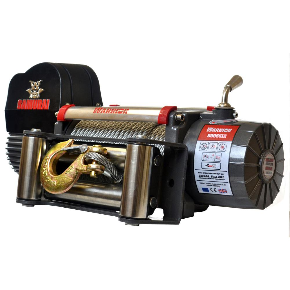 Samurai Series 8,000 lb. Capacity 12-Volt Electric Winch with 95 ft.