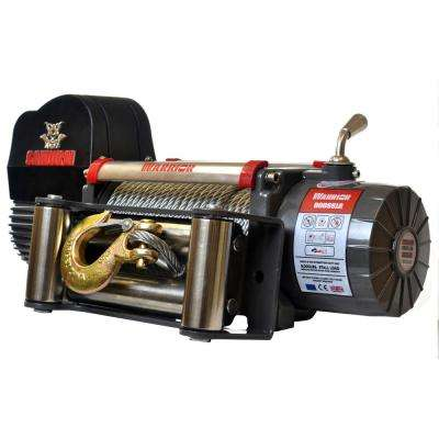 Samurai Series 8,000 lb. Capacity 12-Volt Electric Winch with 95 ft. Steel Cable
