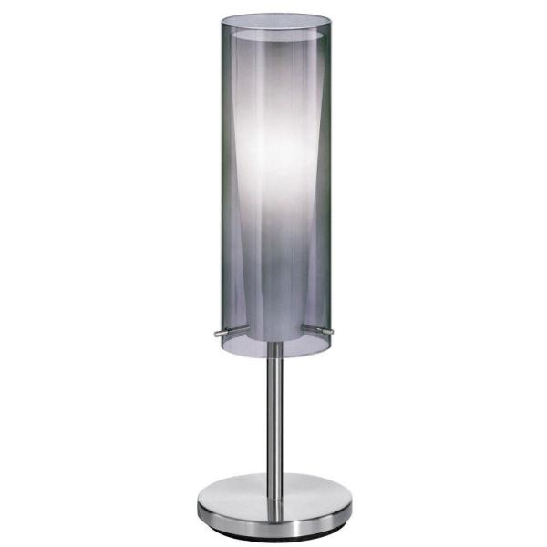 Pinto Nero 19.75 in. Matte Nickel Table Lamp