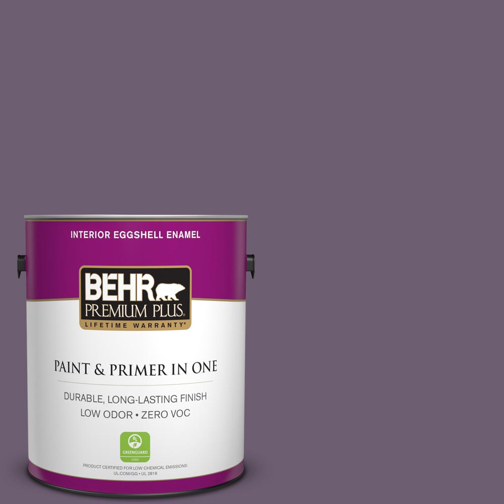 BEHR Premium Plus 1-gal. #S100-6 Blackberry Jam Eggshell Enamel Interior Paint