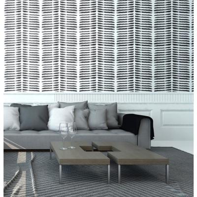 Nomad Collection Tasmanian Beach in Black and White Premium Matte Wallpaper