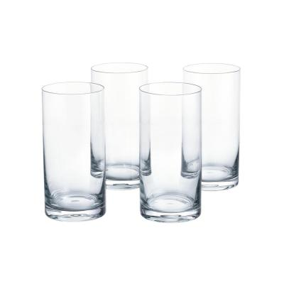 Skylar 19.8 fl. oz. Charcoal Gray Ombre Highball Glasses (Set of 4)