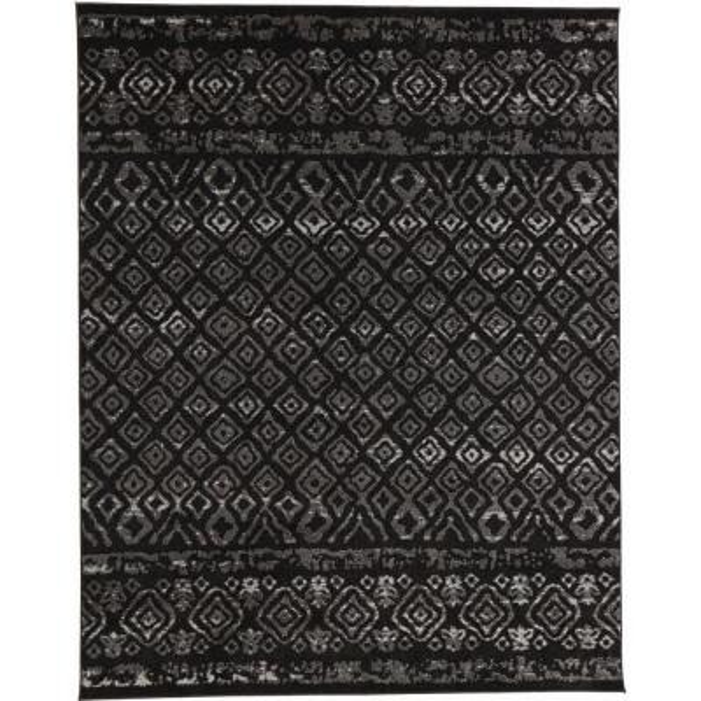 Tribal Essence Black 8 ft. x 10 ft. Area Rug