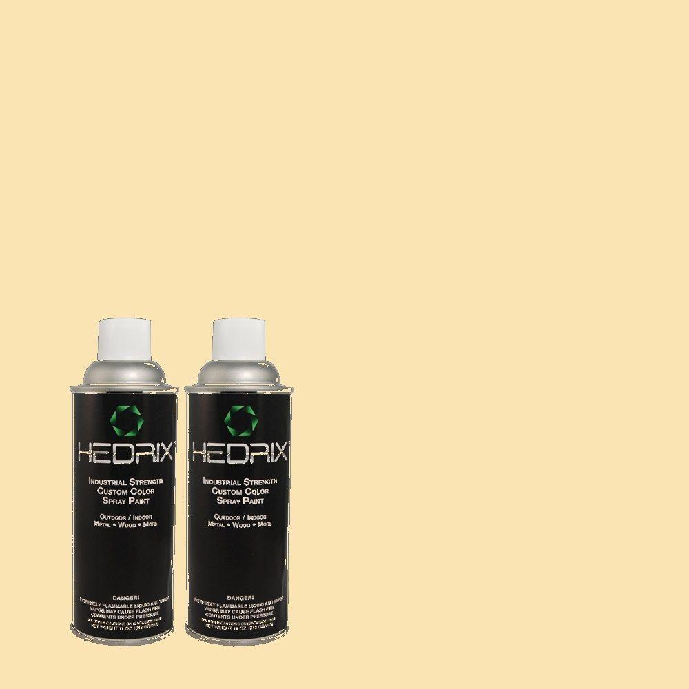 Hedrix 11 oz. Match of 2B8-2 Blond Yellow Gloss Custom Spray Paint (2-Pack)